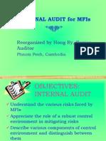 Internal Audit for MFI