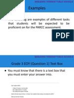 examples of parcc mathematics problems