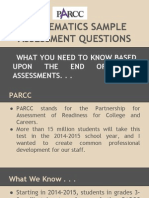 parcc mathematics practice test questions information