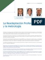 La Readaptación Profesional y la Metrología