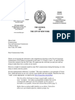 Letter to TLC Commissioner Joshi - Follow up to Rules Hearing (October 30, 2014)