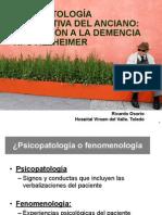 Psicopatología Descriptiva Del Anciano Con Demencia Tipo Alzheimer