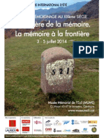 Centre for Memory and Testimony Studies, Séminaire d'Ete