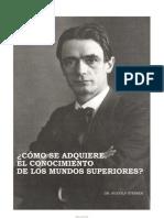 9570914 Rudolf Steiner Como Se Adquiere El Conocimiento de Los Mundos Superiores