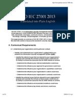 ISO IEC 27001 2013 Translated Into Plain English