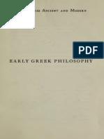 Early Greek Philosophy - Benn, Alfred William