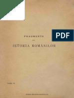 Hurmuzachi Istoria Romanilor 3