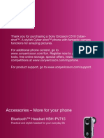 Thank You for Purchasing a Sony Ericsson C510 Cybershot™. A