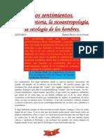 Los Sentimientos. La Sicohistoria, La Sicoantropología, La Sicología de Los Hombres