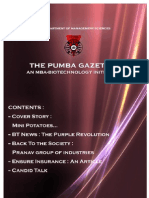 The PUMBA Gazette November 2009 Edition