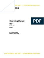 Siemens Sra4 Svr4.6 Omn - Operating Manual