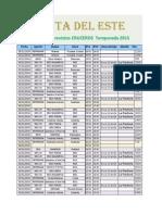 Arribos de Cruceros Punta Del Este 2014 2015