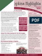 Hopkins Highlights-November 2014