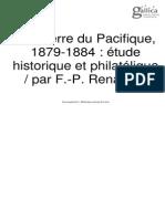 La Guerre Du Pacifique 1879-1884. Etude Historique Et Philatélique. (1922)
