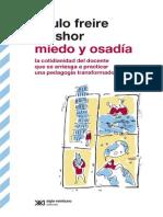 Freire, Paulo & Shor, Ira - Miedo y Osadia