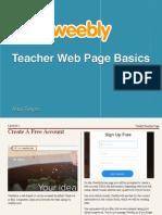 Weebly Teacher Page Basics
