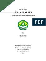 Cover Proposal Kerja Praktek UNRI