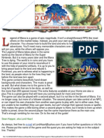 Legend of Mana Psx - Game Guide
