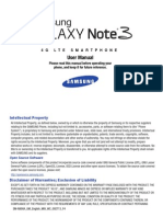 Note 3 Manual SM-N900A