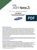 Note 3 Manual SM-N900A