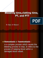 Bleeding Time, clotting Time PT and PTT2