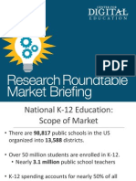 CDE Maryland Research Roundtable 2014 Market Briefing