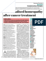 Individualised Homeopathy After Cancer Treatment