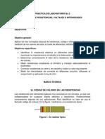 medicion de resistencias, voltajes e intensidades