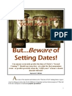 Yes, Jesus Christ Will Come--But BEWARE of Setting Dates!