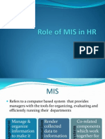 Role of MIS in HR