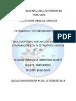 ADOPCION Y ADROGACION EN ROMA EN COMPARACION CON EL ESTAMENTO JURIDICO.docx