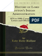 The History of Lord Lyttons Indian Administration (1899)