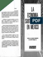La Economia Subterranea en Mexico