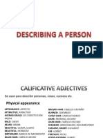Describing a person and conectors