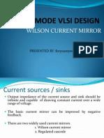 Wilson Current Mirror