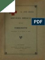 Servicio Medico de Un Terremoto. (Valparaíso 16 de Agosto de 1906). (1907)