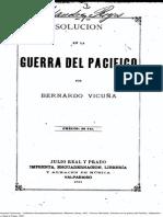 Solución en La Guerra Del Pacífico. (1881)