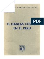 Domingo Garcia Belaunde - Habeas Corpus en El Peru