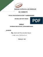 Modulo Sistemas Educativos Latino Amaricanos