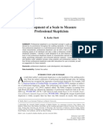 Development of a Scale to Measure Professional Skepticism