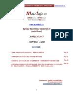 2013 Revista MateInfo.ro Aprilie