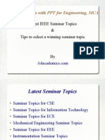 Best Seminar Topics with PPT