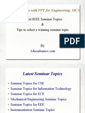 Best Seminar Topics with PPT | Computer Science | Electrical Engineering