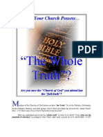 "Does Your Church Possess…  ""The Whole Truth""?"