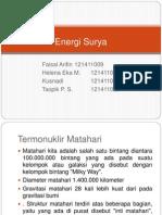 Presentasi Energi Surya