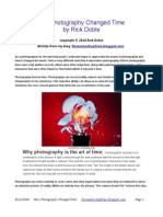 How Photography Changed Time by Rick Doble