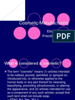 Cosmetic Manufacturing
