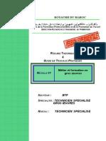 M01 Métier Et Formation en Gros Oeuvres AC TSGO-BTP-TSGO