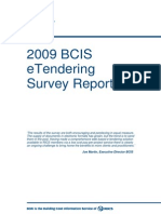 2009 BCIS ETendering Survey Report