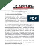 JG - JRME - Declaración Conjunta Ante Las Elecciones FECH - 29 de Octubre de 2014